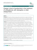 "Báo cáo y học: "" Change in level of productivity in the treatment of schizophrenia with olanzapine or other antipsychotics"""