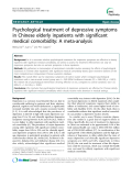 "Báo cáo y học: "" Psychological treatment of depressive symptoms in Chinese elderly inpatients with significant medical comorbidity: A meta-analysis"""