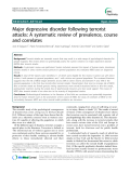 "Báo cáo y học: ""Major depressive disorder following terrorist attacks: A systematic review of prevalence, course and correlates"""