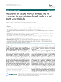 Prevalence of severe mental distress and its correlates in a population-based study in rural south-west Uganda