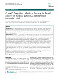 "Báo cáo y học: ""  CHAMP: Cognitive behaviour therapy for health anxiety in medical patients, a randomised controlled trial"""