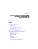 Tropical Agroecosystems - Chapter 9 (end)