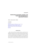 BIODIVERSITY IN AGROECOSYSTEMS - CHAPTER 5