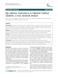 "Báo cáo y học: ""  Ego defense mechanisms in Pakistani medical students: a cross sectional analysis"""