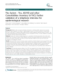 "Báo cáo y học: ""The Autism - Tics, AD/HD and other Comorbidities inventory (A-TAC): further validation of a telephone interview for epidemiological research"""
