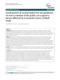 "Báo cáo y học: ""Development of mental health first aid guidelines on how a member of the public can support a person affected by a traumatic event: a Delphi study"""