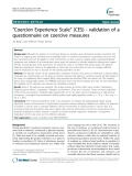 "Báo cáo y học: "" ""Coercion Experience Scale"" (CES) - validation of a questionnaire on coercive measures"""