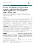 """Báo cáo y học: """" Nutrition, mental health and violence: from pregnancy to postpartum Cohort of women attending primary care units in Southern Brazil - ECCAGE study"""""""
