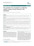 "Báo cáo y học: "" The potential role of appetite in predicting weight changes during treatment with olanzapine"""