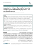 """Báo cáo y học: """" Assessing the efficacy of a modified assertive community-based treatment programme in a developing country"""""""
