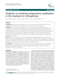 "Báo cáo y học: ""Predictors of switching antipsychotic medications in the treatment of schizophrenia"""