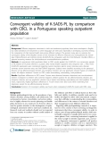 "Báo cáo y học: ""Convergent validity of K-SADS-PL by comparison with CBCL in a Portuguese speaking outpatient population"""