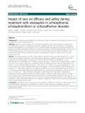 """Báo cáo y học: """"  Impact of race on efficacy and safety during treatment with olanzapine in schizophrenia, schizophreniform or schizoaffective disorde"""""""