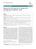 "Báo cáo y học: ""Reasons for illicit drug use in people with schizophrenia: Qualitative study"""