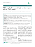 "Báo cáo y học: "" P300 amplitude is insensitive to working memory load in schizophrenia"""