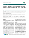 "Báo cáo y học: "" Psychiatric disorder in early adulthood and risk of premature mortality in the 1946 British Birth Cohort"""