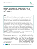 "Báo cáo y học: ""  Helping someone with problem drug use: a delphi consensus study of consumers, carers, and clinicians"""