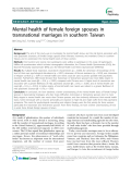 "Báo cáo y học: ""  Mental health of female foreign spouses in transnational marriages in southern Taiwa"""