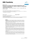 """Báo cáo y học: """" Maintenance of response with atypical antipsychotics in the treatment of schizophrenia: a post-hoc analysis of 5 double-blind, randomized clinical trials"""""""