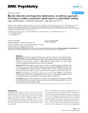 "Báo cáo y học: "" Bipolar disorder and dopamine dysfunction: an indirect approach focusing on tardive movement syndromes in a naturalistic setting"""