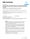 "Báo cáo y học: "" Treating children traumatized by war and Tsunami: A comparison between exposure therapy and meditation-relaxation in North-East Sri Lanka"""