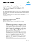 "Báo cáo y học: ""Persistence and compliance to antidepressant treatment in patients with depression: A chart review"""