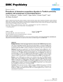 """Báo cáo y học: """" Prevalence of obsessive-compulsive disorder in Turkish university students and assessment of associated factorsb"""""""