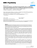 "Báo cáo y học: "" Treatment patterns and clinical characteristics prior to initiating depot typical antipsychotics for nonadherent schizophrenia patients"""
