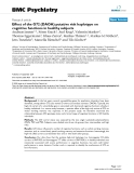 """Báo cáo y học: """" Effect of the G72 (DAOA) putative risk haplotype on cognitive functions in healthy subjects"""""""