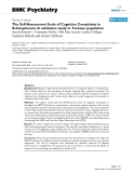 """Báo cáo y học: """" The Self-Assessment Scale of Cognitive Complaints in Schizophrenia: A validation study in Tunisian population"""""""