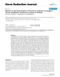 """báo cáo khoa học: """"  Barriers to the dissemination of four harm reduction strategies: a survey of addiction treatment providers in Ontario"""""""