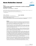 """báo cáo khoa học: """"  Tobacco harm reduction: an alternative cessation strategy for inveterate smokers"""""""