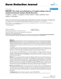 """báo cáo khoa học: """"  NAOMI: The trials and tribulations of implementing a heroin assisted treatment study in North America"""""""