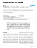 "báo cáo khoa học: ""   The health impacts of globalisation: a conceptual framework"""
