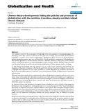 """báo cáo khoa học: """"  Uneven dietary development: linking the policies and processes of globalization with the nutrition transition, obesity and diet-related chronic diseases"""""""