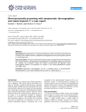 "Báo cáo y học: "" Dermatomyositis presenting with symptomatic dermographism and raised troponin T: a case report"""