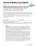 "Báo cáo y học: "" Rapidly progressing, fatal and acute promyelocytic leukaemia that initially manifested as a painful third molar: a case report"""