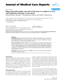 "Báo cáo y học: "" Pigmented villonodular synovitis of the knee in a patient on oral anticoagulation therapy: a case report"""