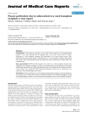 "Báo cáo y học: "" Cecum perforation due to tuberculosis in a renal transplant recipient: a case report"""
