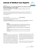 "Báo cáo y học: "" Endometriosis in a postmenopausal woman without previous hormonal therapy: a case report"""