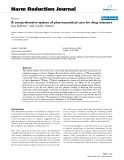 """báo cáo khoa học: """" A comprehensive system of pharmaceutical care for drug misusers"""""""
