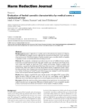 "báo cáo khoa học: "" Evaluation of herbal cannabis characteristics by medical users: a randomized trial"""
