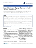 "báo cáo khoa học: "" Surgical treatment of gingival overgrowth with 10 years of follow-up"""