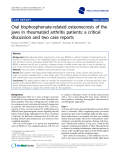 """báo cáo khoa học: """"  Oral bisphosphonate-related osteonecrosis of the jaws in rheumatoid arthritis patients: a critical discussion and two case reports"""""""