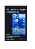 Thin Layer Chromatography in Phytochemistry