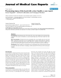 """Báo cáo y học: """" Penetrating injury of the hand with a door handle: a case report"""""""