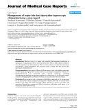 "Báo cáo y học: "" Management of major bile duct injury after laparoscopic cholecystectomy: a case report"""