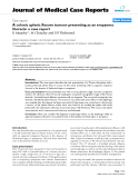 """Báo cáo y học: """"A colonic splenic flexure tumour presenting as an empyema thoracis: a case report"""""""
