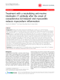 "Báo cáo y học: "" Treatment with a neutralizing anti-murine interleukin-17 antibody after the onset of coxsackievirus b3-induced viral myocarditis reduces myocardium inflammation"""