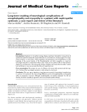 "Báo cáo y học: ""Long-term tracking of neurological complications of encephalopathy and myopathy in a patient with nephropathic cystinosis: a case report and review of the literature"""